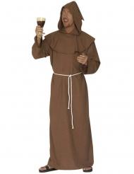 Mönch Kostüm braun Herren