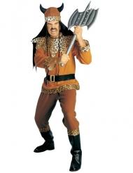 Wikinger-Krieger Kostüm für Herren braun-schwarz