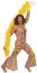 60er-Jahre Drag Queen Hippie-Herrenkostüm bunt