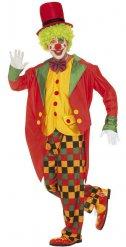 Buntes Lametta Clown-Kostüm Herren