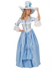 Barock-Kostüm für Damen blau weiß