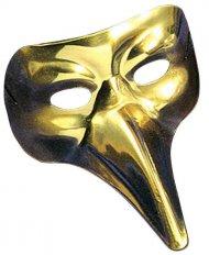 Traditionelle Maske venezianisch für Erwachsene goldfarben