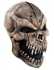 Werwolf Skelett-Maske Halloween grau-schwarz
