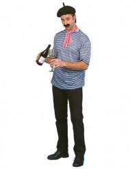 Französisches-Kostümset für Herren blau-weiss-schwarz