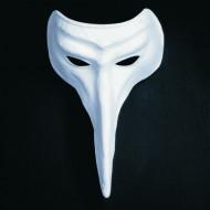 Venezianische Maske weiße Nase für Erwachsene