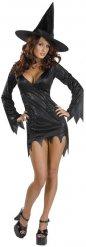 Zauberhaftes Hexenkostüm-Magierin Halloween schwarz