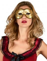 Venezianische Maske gold Katze Erwachsene