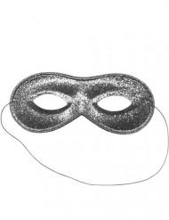 Venezianische Maske Paillette Silber Erwachsene
