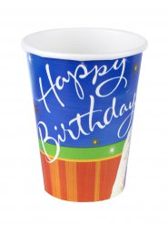 Happy Birthday-Partybecher Trinkbecher 8 Stück bunt 266 ml