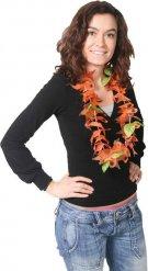 Hawaii-Kette mit Fischen Kostümzubehör orange-grün
