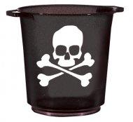Flaschenkühler Totenschädel Partyzubehör Halloween schwarz-weiss 27x23cm