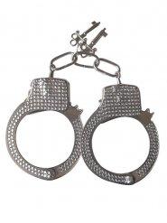Handschellen mit Strass silber 11,5x11cm