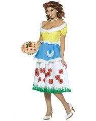 50er-Jahre-Kostüm Hausfrauen-Kostüm mit Kuchen bunt