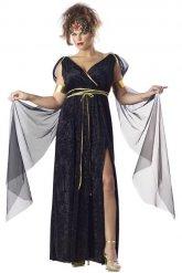Griechische-Göttin Atlanta Damenkostüm schwarz-gold