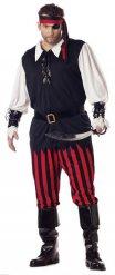 Jake the Mad Piratenkostüm für Herren schwarz-weiss-rot