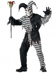 Halloween Clownkostüm für Herren schwarz