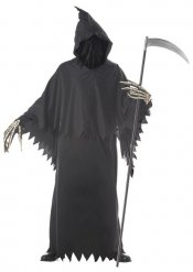 Halloween-Herren-Kostüm - Schnitter - Schwarz