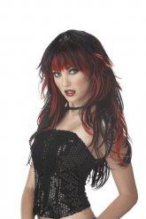 Gothic schwarz-rote Perücke