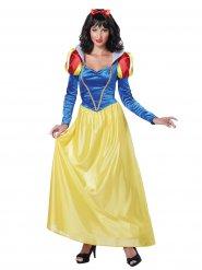 Märchenprinzessin Damenkostüm rot-gelb-blau