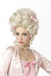 Marie Antoinette-toupierte Perücke für Damen weiss