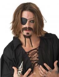 Set Pirat Schnurrbärte braun für Erwachsene