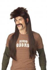 Punk Perücke und Schnurrbart für Herren