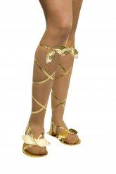 Griechisch-römische Sandalen Damen Gold