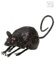 Deko-Maus für Halloween schwarz 23,5x4,5x5cm