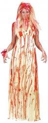 Blutverschmiertes Zombie Braut-Kostüm für Damen Halloween