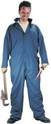 Zombie-Handwerker Kostüm für Herren Halloween blau