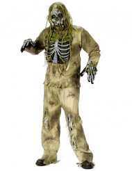 Sumpf-Zombie Herrenkostüm für Erwachsene grün-weiß-schwarz