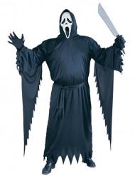 Scream-Kostüm Halloween Lizenzartikel schwarz