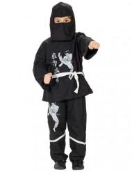 Ninjakostüm für Kinder schwarz-weiss