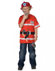 Feuerwehrmann T-Shirt für Kinder rot-weiss
