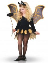 Schwarzes Fledermaus-Kostüm für Mädchen