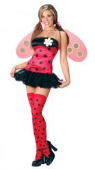 Sexy Marienkäfer-Kostüm mit Flügeln für Damen