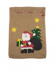 Jute-Sack für den Weihnachtsmann 50x35cm