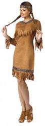 Hübsches Indianer-Damenkostüm braun