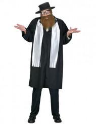 Rabbi-Kostüm für Herren schwarz-weiss