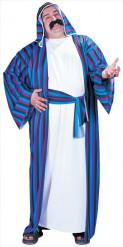 Orientalisches Scheich-Kostüm für Herren blau-weiss-schwarz