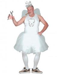 Kleine Zahnfee humorvolles-Kostüm für Herren in Übergröße weiss