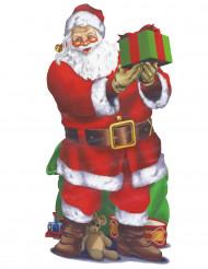 Weihnachtsmann-Wanddekoration für Weihnachten bunt 165x85cm