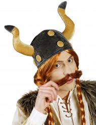 Wikinger Helm Velours für Erwachsene