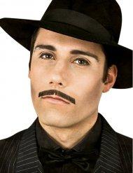 Gangster Schnurrbart für Herren schwarz Deluxe