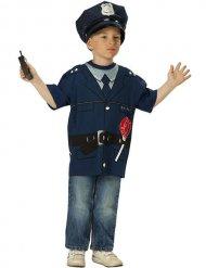 Polizei-Spielshirt für Kinder blau-schwarz
