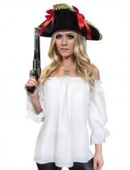 Piratenhemd Mittelalter weiß für Damen