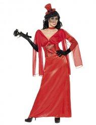 Entzückende Vampir-Dame Halloween-Kostüm rot