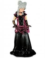 Barock-Gräfin Damen-Kostüm schwarz-burgund