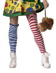 Socken bunten Clown Streifen