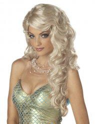 Meerjungfrau Perücke blond für Damen